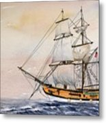 Tall Masted Ship Metal Print