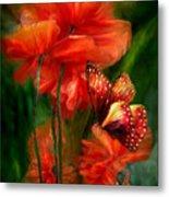Tall Poppies Metal Print