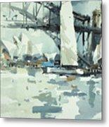 Tall Sails In Sydney Metal Print