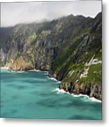 Tall Sea Cliffs Of Slieve League Donegal Ireland Metal Print by Pierre Leclerc Photography