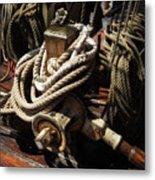 Tall Ship Details Metal Print