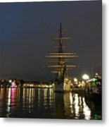 Tall Ship Docked At The Baltimore Inner Harbor Metal Print
