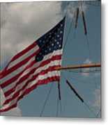 Tall Ship Flag IIi Metal Print