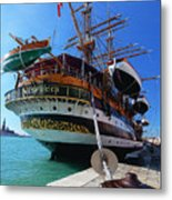Tall Ship In Port Venice Metal Print