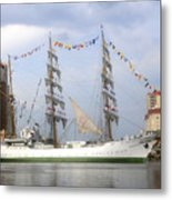 Tall Ship In Tampa Bay Metal Print