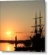 Tall Ship Lady Washington At Dawn Metal Print by Mike Coverdale