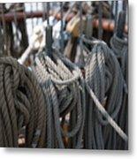 Tall Ship Lines Vi Metal Print