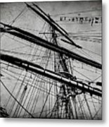 Tall Ship Mast V3 Metal Print