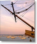 Tall Ship Mayflower II In Plymouth Massachusetts Metal Print
