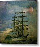Tall Ship New York Harbor 1976 Metal Print