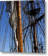 Tall Ship Rigging Lady Washington Metal Print by Garry Gay