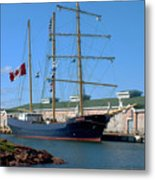 Tall Ship Waiting Metal Print