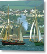 Tall Ships And Steam Trains Metal Print