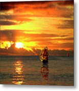 Tall Ships And The Trade Route Metal Print