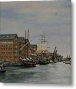 Tall Ships At Gloucester Docks Metal Print