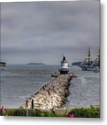 Uscg Eagle In Maine Metal Print