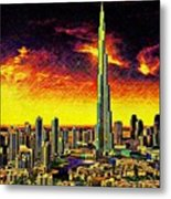 Tallest Building In The World Metal Print