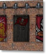 Tampa Bay Buccaneers Brick Wall Metal Print