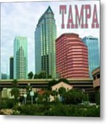 Tampa From The River Tote Metal Print