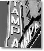 Tampa Theatre Bw Metal Print