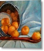 Tangerine Family Portrait Metal Print by Terrye Philley