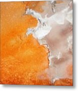 Tangerine Orange Geyser Pool Of Yellowstone Metal Print by The Forests Edge Photography - Diane Sandoval