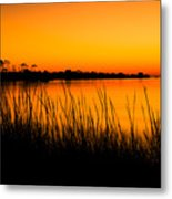 Tangerine Sunset Metal Print