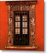 Tangerine Window Metal Print