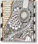Tangle Guitar 1 Metal Print