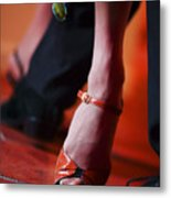 Tango Toes Metal Print