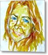 Tania Helft, Portrait Metal Print