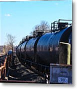 Tanker Cars Pulled By Csx Engines Metal Print