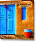 Taos Doorway Metal Print