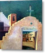 Taos Evening Shadows Metal Print