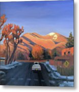Taos In The Golden Hour Metal Print