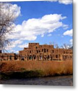 Taos Pueblo Early Spring Metal Print