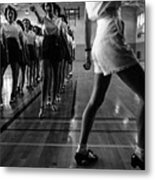 Tap Dancing Class In The Gymnasium Metal Print by Everett