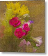 Tapestry Bouquet Metal Print