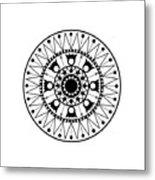 Tapiz Black And White Metal Print