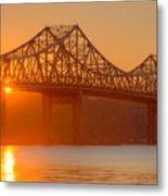 Tappan Zee Bridge At Sunset I Metal Print