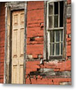 Tar-paper House Door And Window Metal Print