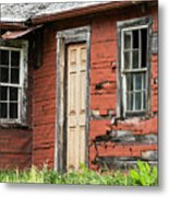 Tar-paper House Door And Windows Metal Print