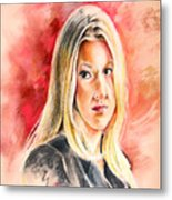 Tara Summers In Boston Legal Metal Print