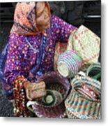 Tarahumara Basket Vendor Metal Print