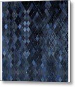 Targyle Pitch Black Pattern 1 Metal Print