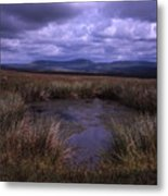 Tarn On The Slopes Of Whernside With Pen-y-ghent On The Horizon Yorkshire Dales England Metal Print