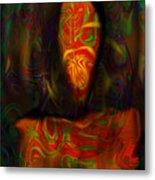 Tarot Candle Metal Print