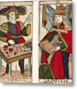 Tarot Cards, C1700 Metal Print