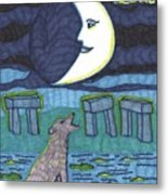 Tarot Of The Younger Self The Moon Metal Print