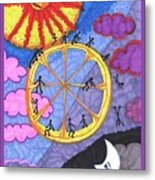 Tarot Of The Younger Self The Wheel Metal Print